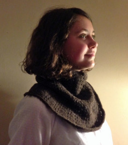 Cowl Knitted with Yak Fiber Yarn